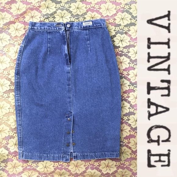 Vintage Dresses & Skirts - Vintage Mom Jeans Skirt, 90s, 90210 Style